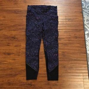 NWOT purple lululemon leggings w mesh detail size8